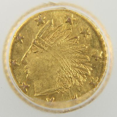 1853 California Gold Coin Round Indian Token - Solid Gold (MS64 PL)