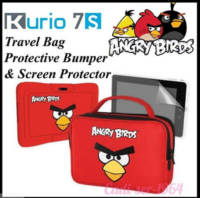 "KURIO 7 Angry Birds Accessory Pack 7"" Tablet  Travel Bag & Protective Bumper"