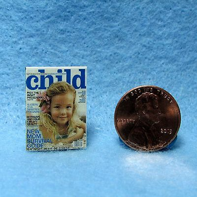 Dollhouse Miniature Replica of CHILD Magazine ~ Printed Cover & Back Only