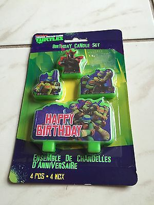 Teenage Mutant Ninja Turtles Tmnt Birthday Party Supplies 4 Mini Candles Set