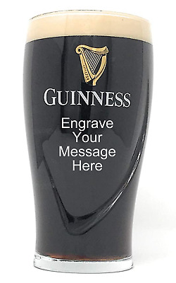 GUINNESS Personalised Engraved 1 Pint Glass + Box Birthday Christmas Wedding