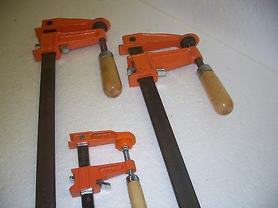 Jorgensen Clamp 3918- Steel Bar Clamp(2)-3706-Ld-Steel Bar Clamp(1)-N.o.s.-New!!