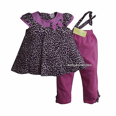 79e4735dfe3e9 NWT Laura Ashley Baby Girls Outfit Shirt Legging Headband Size 12 18 24  months