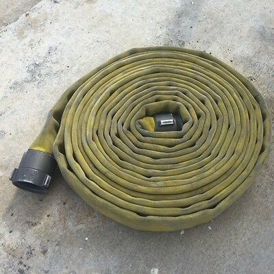 "Yellow Double Jacket Fire Hose 2.5"" X 50 Ft W/aluminum Couplings"