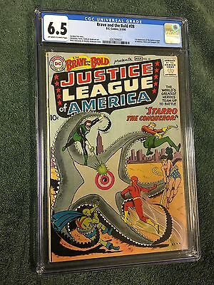 Brave and the Bold #28 CGC 6.5 OW/W,  1st Appearance Justice League of America