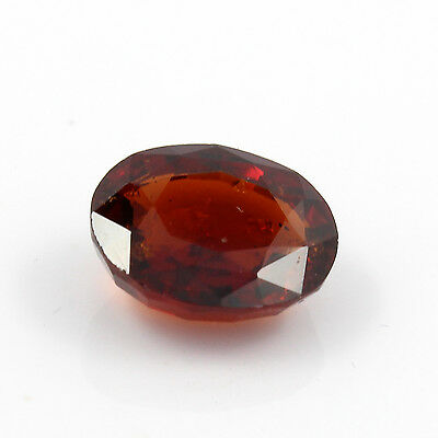 Be You 4.77cts Orange Color Faceted Oval Shape Natural Odisha Hessonite