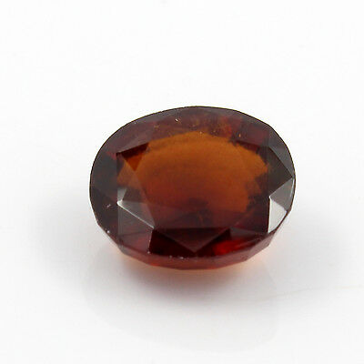 Be You 5.46cts Orange Color Faceted Oval Shape Natural Odisha Hessonite