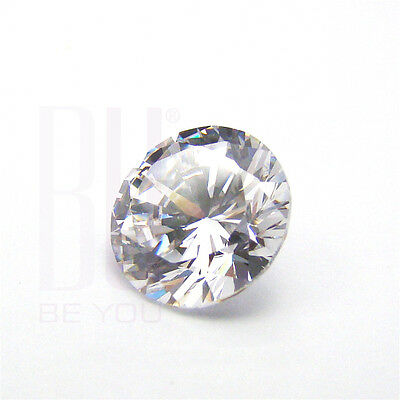 White Cubic Zirconia AAA Quality 10 mm Star Cut Round 25 pcs loose gemstone