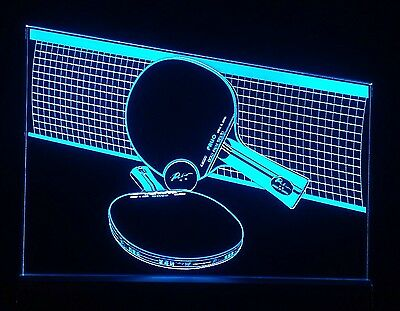 Table Tennis LED Sign + Remote Control. Bar Sign,Man Cave,display
