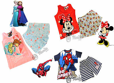Pigiami Completini Bambini Frozen Minnie Spiderman Disney/marvel