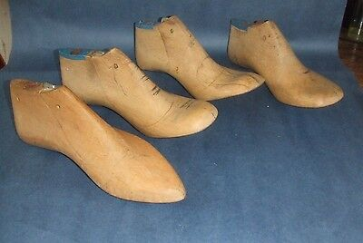 Vintage FRENCH 4x wooden Shoe LASTS