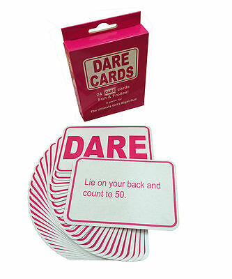 24 Dare Cards Hen Party  Stag Games Hen Night Accessories  Party Bag