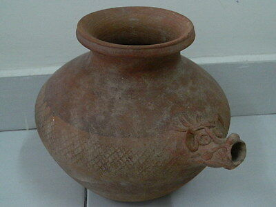 "Ancient Indus Valley Huge Size Teracotta Pot C.1000 Bc """"t15435"