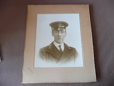 Large antique Wales Welsh photograph of sailor Cardiff large World War I period
