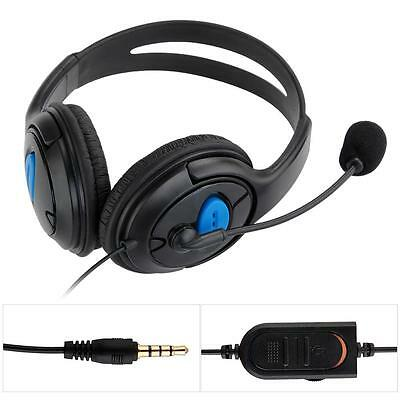 Wired Auriculares Cascos Headset con Micrófono para Playstation 4 PS4 PC 3.5mm