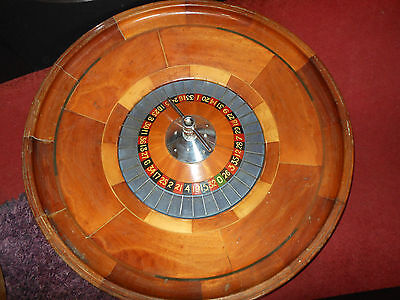 "Stunning Antique Full Size  Roulette Wheel  + 92Cm 36"" Wide"