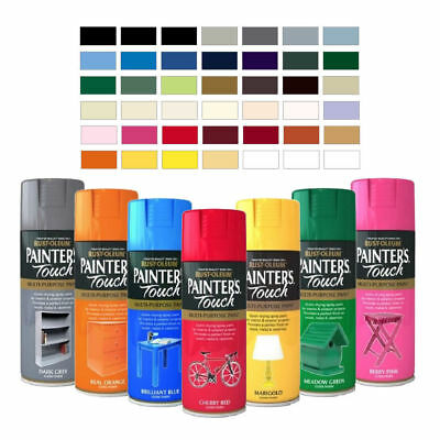400ml Rust-Oleum Painters Touch Spray Paint multi-purpose Gloss / Satin / Matt
