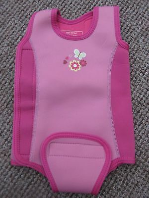Mothercare Pink Baby Wetsuit Age 6-12 Months