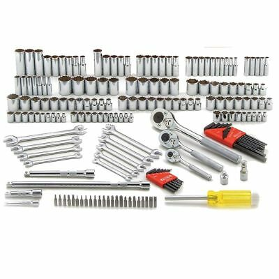 """185pc 1/4"""", 3/8"""", 1/2"""" Metric and SAE Socket Wrench Set Proto Tool J47184 New"""
