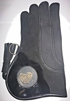Falconry Glove Triple Skinned Nubuck Leather 12 Inches Long 3 Layers Sizes