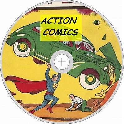 Action Comic Issue 1-400 on 2 Dvd Roms