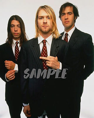 Nirvana Promo Photo - Kurt Cobain - Dave Grohl - 90's Grunge Music