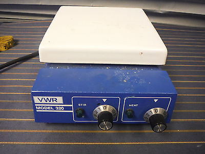 "VWR 320 Hotplate Stirrer 7""x7"" SP35825 Condition 8/10"