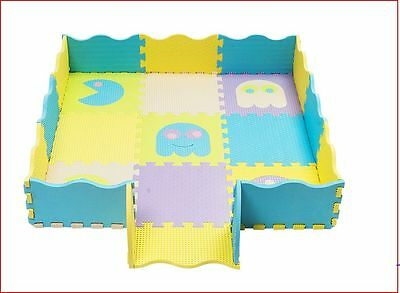 Pac-Man 25pcs Soft Eva Baby Childrens kids fun walled play mat + carry case New
