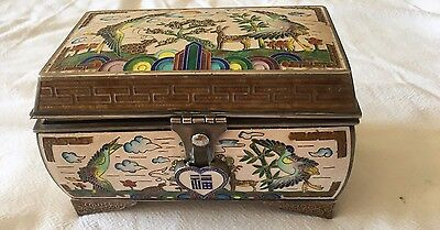 Asian Sterling Silver And Enamel Jewelry Box