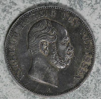 Nice 1861 A German States/Prussia Silver Thaler!!