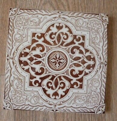 Antique Victorian fireplace tile
