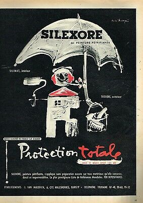 Able H Other Breweriana Publicité Advertising 1957 La Peinture Petrifiante Silexore