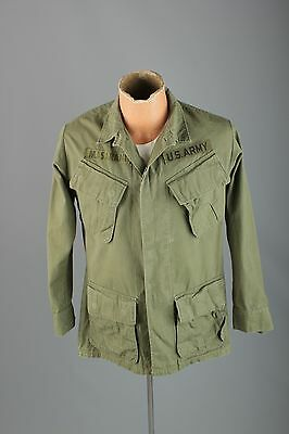 Vtg Men's 1969 Dated Ripstop US Army Patched Jacket sz XS Short #3051