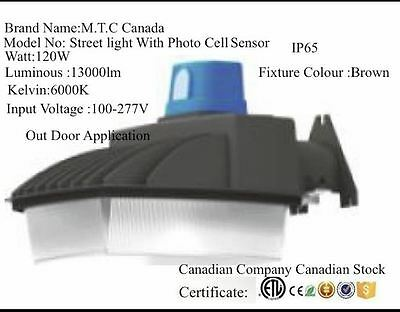 Led Street And Area Light 120W 13000lm 6000K  IP65Outdoor CETl Certified