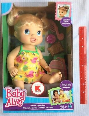 Pretty In Pigtails Baby Alive Doll Blond Hair & Accessories Hasbro RARE ~ NEW!!