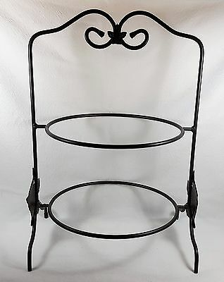 Longaberger Wrought Iron Two Tier Pie Plate or Dinner Plate Rack Holder