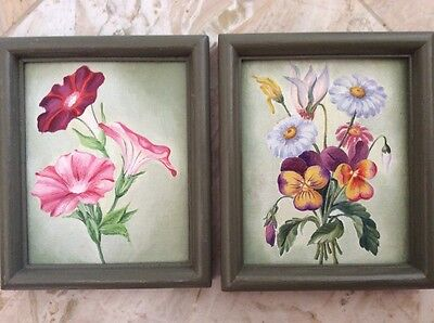 2 original oil paintings  framed signed 2000-Now
