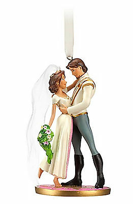 Disney Store Tangled Ever After Rapunzel Flynn Wedding Christmas Ornament