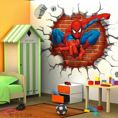 Vinilos Decorativos 3D Amazing Spiderman. Wall Stickers Vinyl Decal