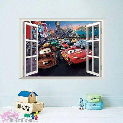 Vinilos Decorativos 3D Ventana Disney Cars. Wall Stickers Vinyl Decal