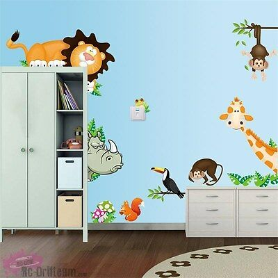 Vinilos Decorativos Animales de la Selva. Wall Stickers Vinyl Decal Bedroom