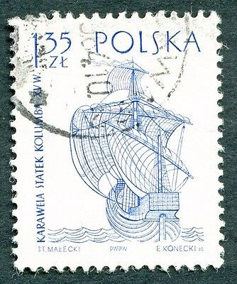 POLAND 1964-5 1z35 SG1459 used NG Sailing Ships 2nd series Santa Maria b #W27