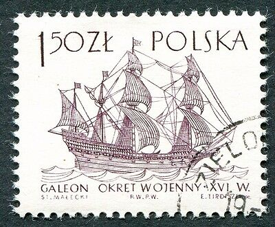 POLAND 1964-5 1z50 SG1460 used FG Sailing Ships 2nd series Ark Royal a #W27