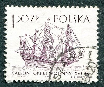 POLAND 1964-5 1z50 SG1460 used NG Sailing Ships 2nd series Ark Royal b #W27