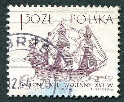 POLAND 1964-5 1z50 SG1460 used NG Sailing Ships 2nd series Ark Royal c #W27