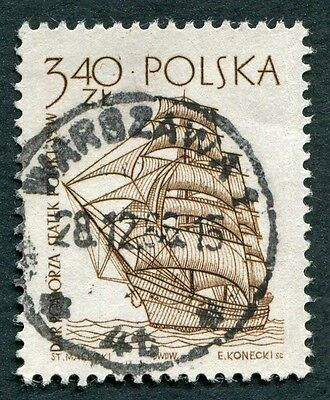 POLAND 1964-5 3z40 SG1466 used NG Sailing Ships 2nd series Dar Pomorza a #W27