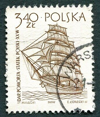 POLAND 1964-5 3z40 SG1466 used NG Sailing Ships 2nd series Dar Pomorza b #W27
