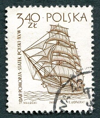 POLAND 1964-5 3z40 SG1466 used NG Sailing Ships 2nd series Dar Pomorza c #W27
