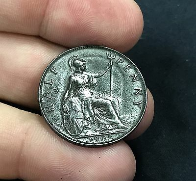 Discovered Metal Detecting 1902 Half Penny Error Coin