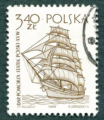 POLAND 1964-5 3z40 SG1466 used NG Sailing Ships 2nd series Dar Pomorza e #W27